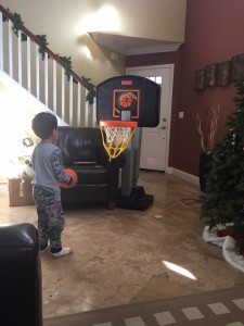 Basketball hoop: ultimate stimulation.