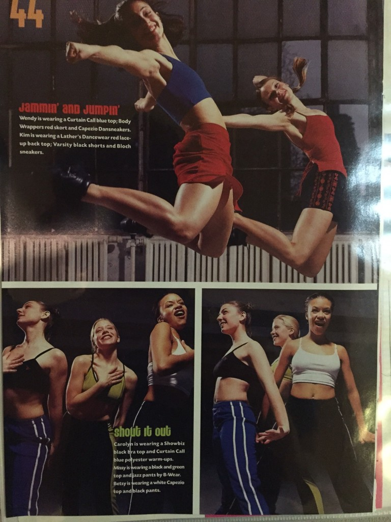 Sometimes you get to be in the dance magazine before you start working for the dance magazine.