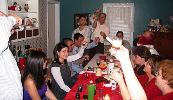 Nothing says class like mudslide shots and a middle finger. Just another X-mas with the Garofolis.